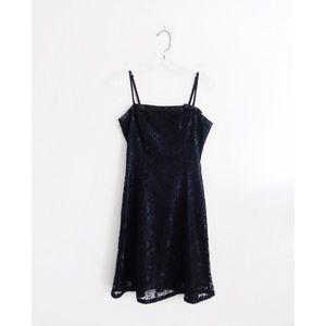 Vintage 90s Betsey Johnson Black Lace Mini Dress 4